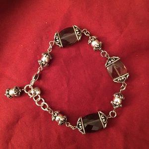 Brighton stone and filigree bracelet
